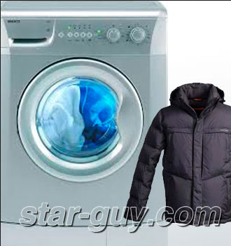 Как стирать пуховик в стиральной машине правильно