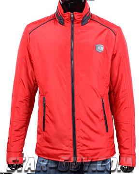 Мужская-куртка-короткая-красная