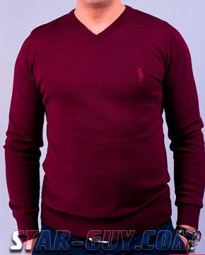 Мужской свитер бордового цвета Артикул: 50-100