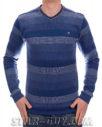 Мужской тонкий свитер турецкий в полоску