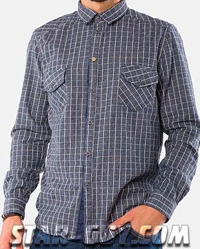 Мужская рубашка с длинным рукавом 2017