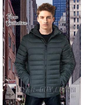 Демисезонная мужская куртка  Black Vinyl в розницу Артикул: 18-30