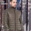 Короткая демисезонная куртка 2018-2019 зеленого(хаки) цвета