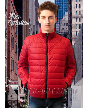Красная короткая мужская куртка Артикул: 18-32