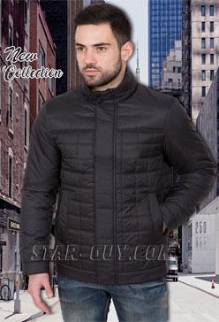 Куртка-мужская-демисезонная-прямая-черная