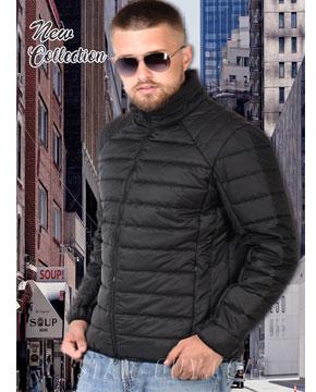 СПОРТИВНАЯ ЧЕРНАЯ КОРОТКАЯ мужская куртка