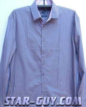 Мужская рубашка сиреневого цвета классика Артикул: 15-5