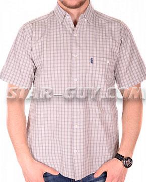 Мужская рубашка в кофейную клетку Турция