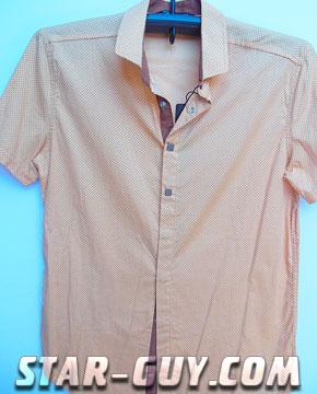 Мужские рубашки с Турции кофейные Артикул: 15-6