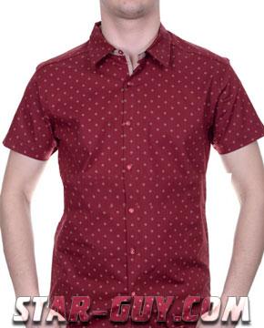 рубашка бордовая с коротким рукавом