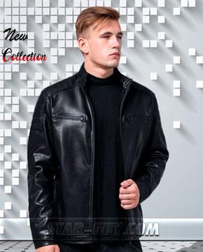 Мужская куртка кожа заменитель в Украине  Артикул 2018 1-2