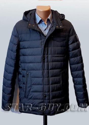 куртка мужская демисезонная классическая +с капюшоном