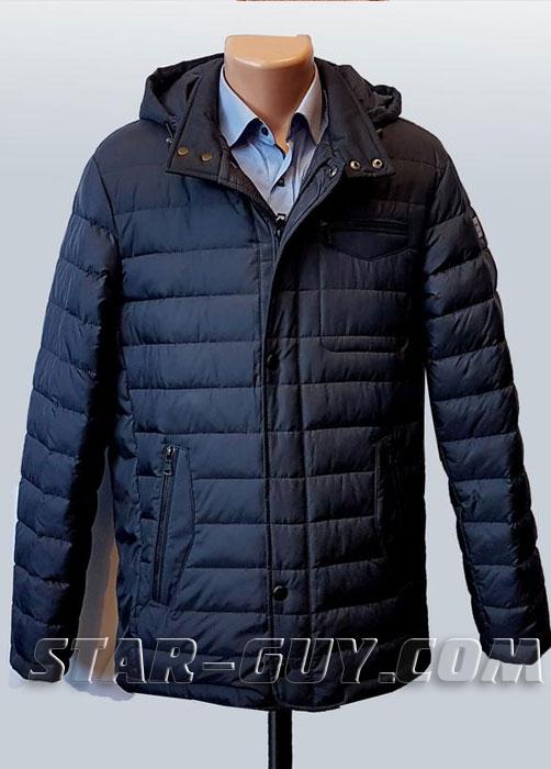 Куртка мужская демисезонная классическая с капюшоном